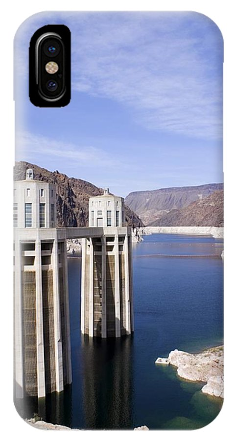 America IPhone X Case featuring the photograph Intake Towers At Hoover Dam by Mark Williamson