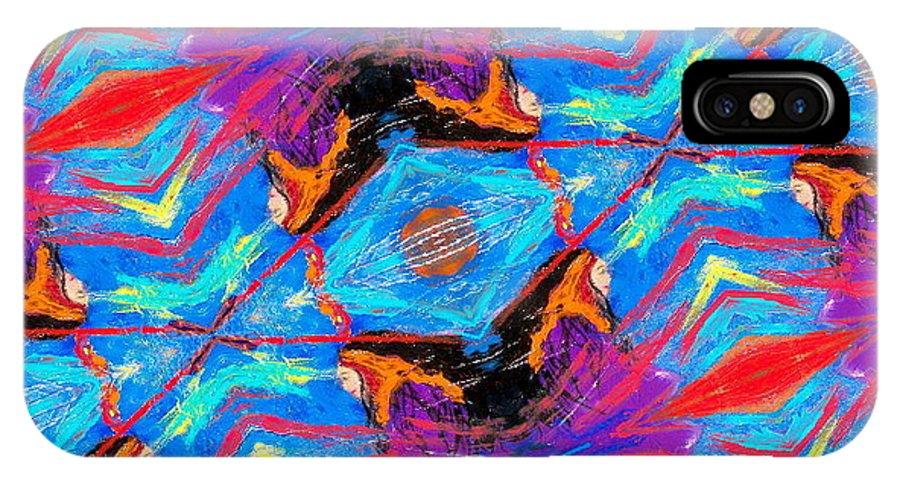 Deborah Montana IPhone X Case featuring the painting Intercession by Deborah Montana