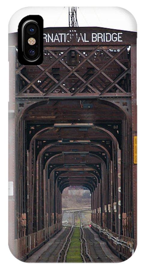 Bridges IPhone X Case featuring the photograph International Bridge 9671 by Guy Whiteley