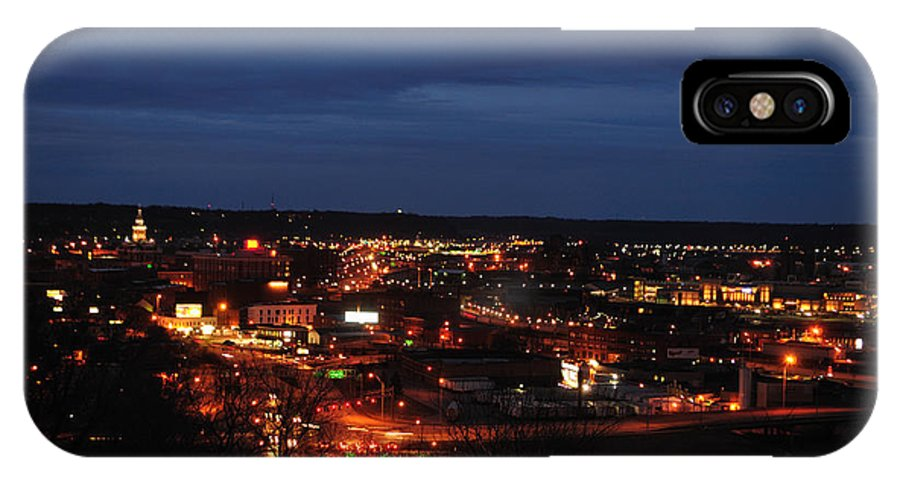 Dubuque IPhone X Case featuring the photograph Into The Night by Dennis Stanton