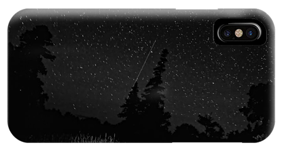 Galaxy IPhone X Case featuring the photograph Into The Night Monochrome by Steve Harrington