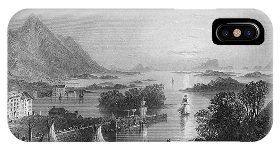 1840 IPhone X Case featuring the photograph Ireland: Clew Bay, C1840 by Granger
