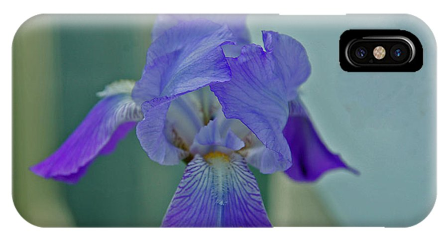 Iris IPhone X Case featuring the photograph Iris I by Julie Thurgood