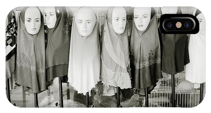 Asia IPhone X Case featuring the photograph Islamic Mannequins by Shaun Higson