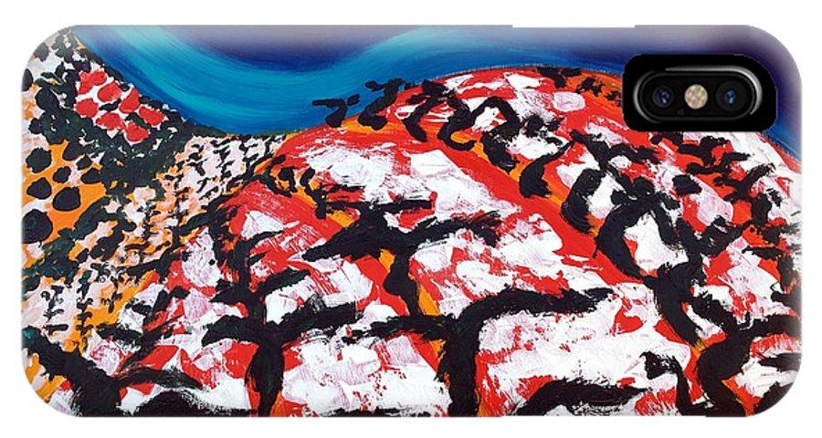 Vineyard IPhone X Case featuring the painting Island Vineyard by Lidija Ivanek - SiLa