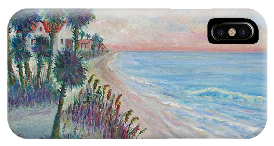Seascape IPhone X Case featuring the painting Isle of Palms by Ben Kiger