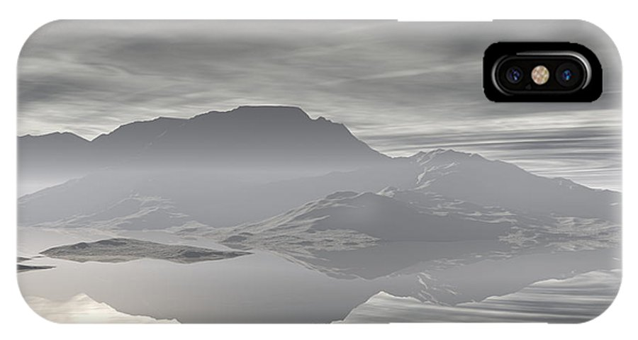 Digital Art IPhone X Case featuring the digital art Isle Of Serenity by Phil Perkins