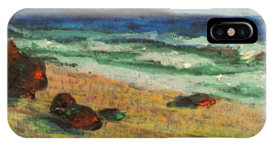 Italy Ocean IPhone X Case featuring the pastel Italian Sunset No. 6 by Casey P