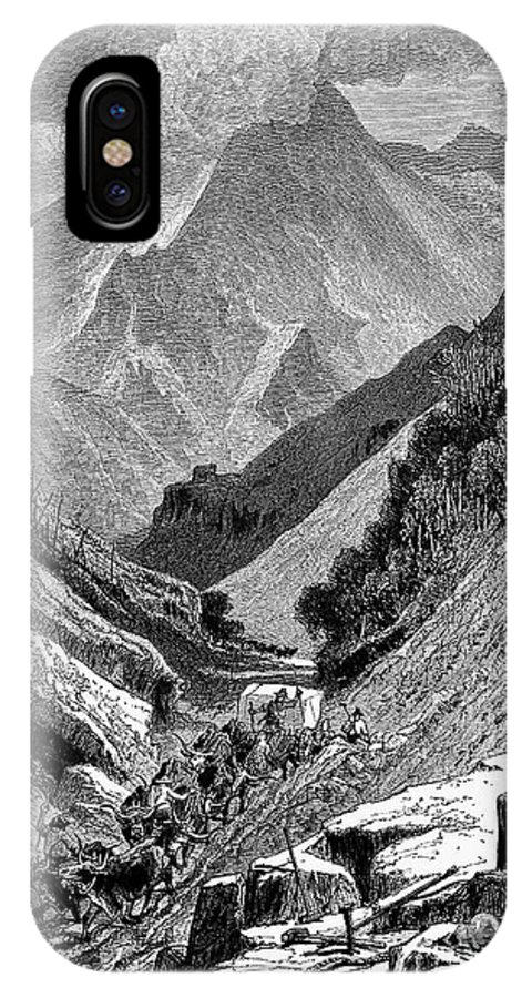 1875 IPhone X Case featuring the photograph Italy: Carrara Mountains by Granger
