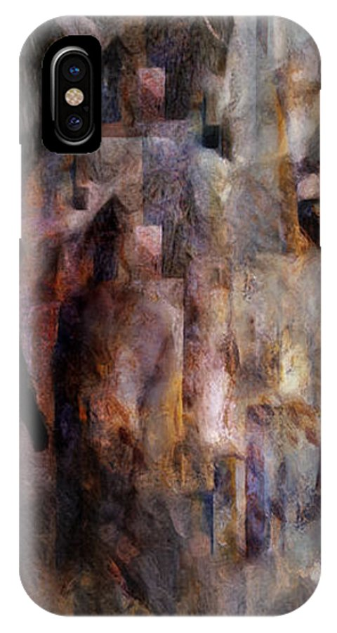 Its Complicated IPhone X Case featuring the painting Its Complicated by Jean Moore