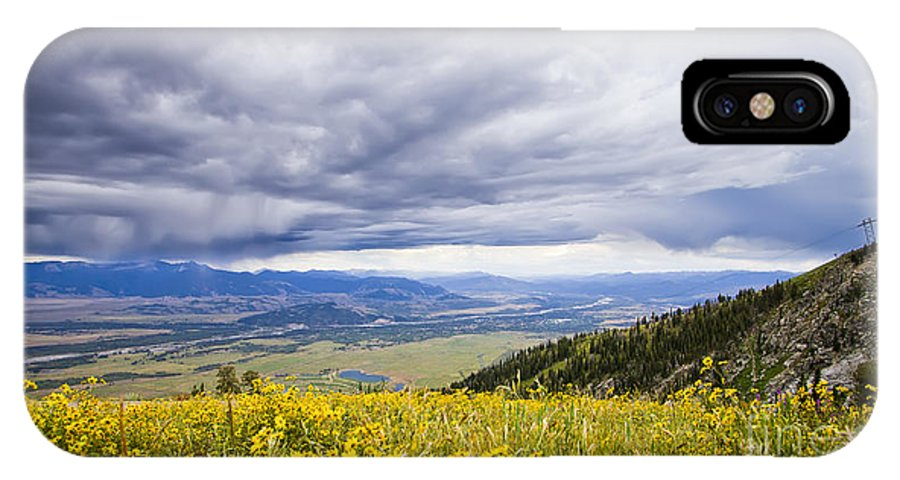 Jackson Hole IPhone X Case featuring the photograph Jackson Hole Rain Clouds by Dustin K Ryan