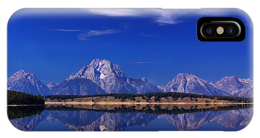 Jackson Lake IPhone X Case featuring the photograph Jackson Lake Reflection by Clare VanderVeen