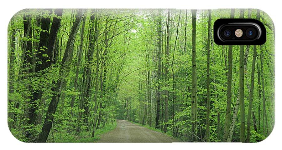 Green IPhone X Case featuring the photograph Jasper Woods by Ronald Grogan