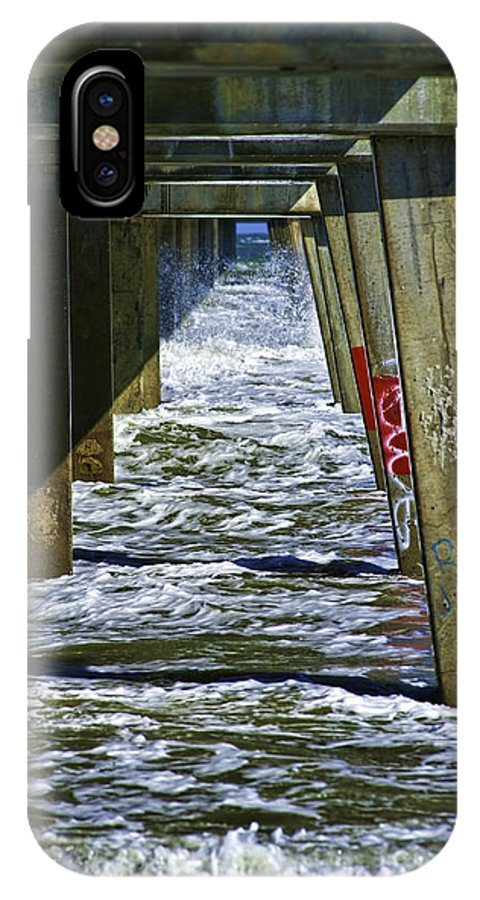 Jacksonville Beach Pier IPhone X / XS Case featuring the photograph Jax Beach Pier by Frank Feliciano