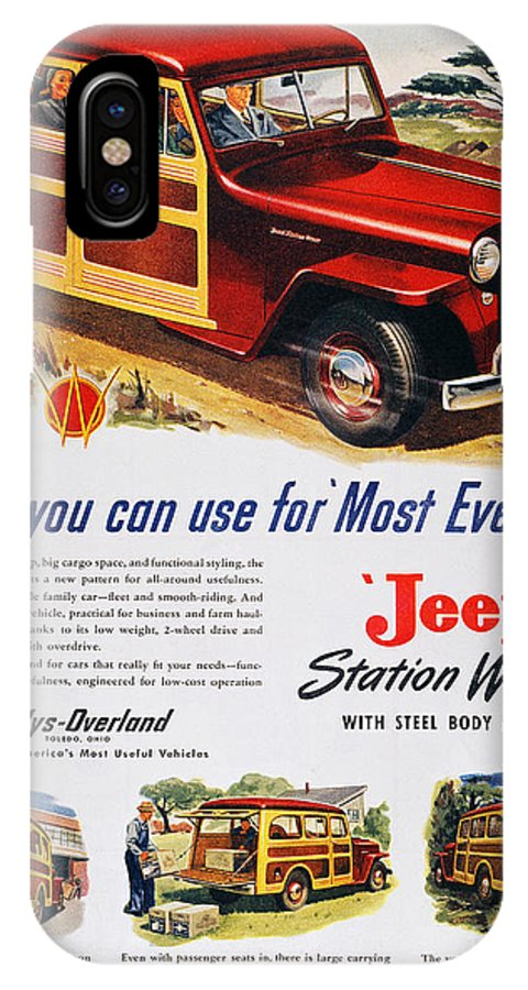 1947 IPhone X Case featuring the photograph Jeep Station Wagon, 1947 by Granger