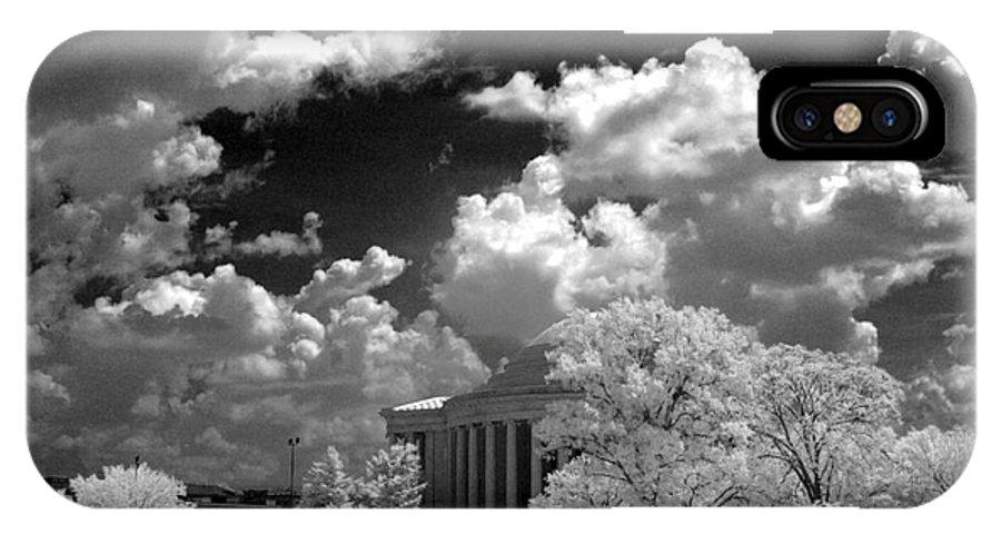 Jefferson Memorial IPhone X Case featuring the photograph Jefferson Memorial by Mike Kurec