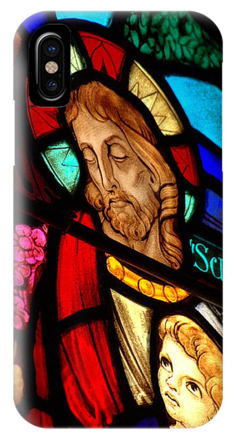Jesus On Glass IPhone X Case featuring the photograph Jesus On Glass by Mark Holden