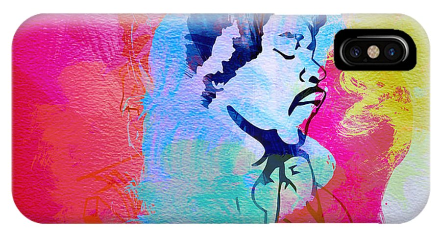 Jimmy Hendrix IPhone X Case featuring the painting Jimmy Hendrix by Naxart Studio