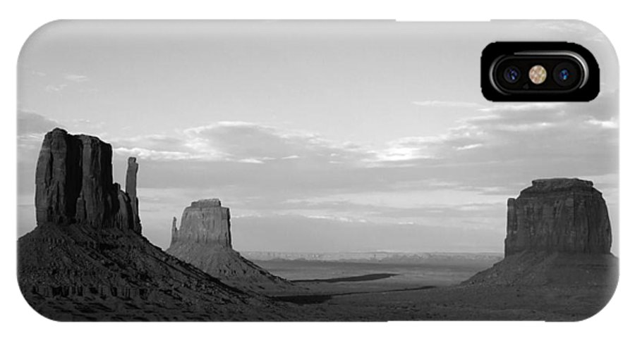 IPhone X / XS Case featuring the photograph John Ford's Monument - Greeting Card by Mark Valentine