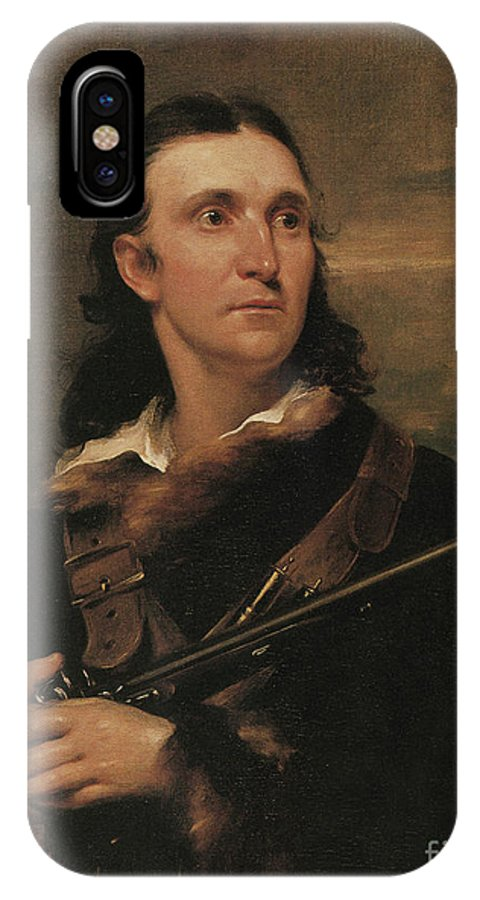 History IPhone X Case featuring the photograph John James Audubon, French-american by Photo Researchers