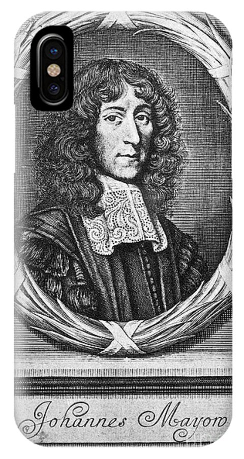 1674 IPhone X Case featuring the photograph John Mayow (1640-1679) by Granger