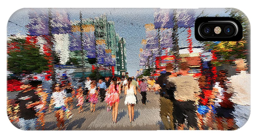 Navy Pier IPhone X Case featuring the photograph Joys Of Summer by David Bearden