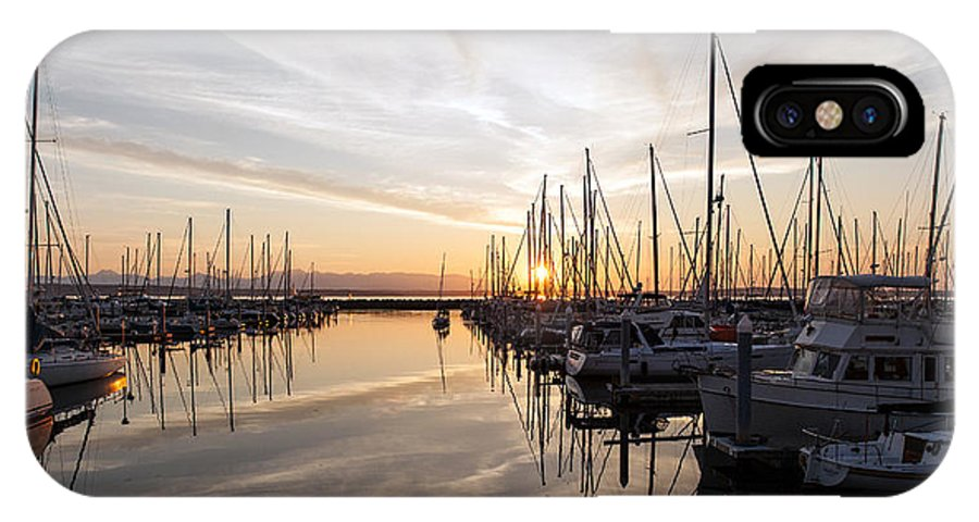 Sunset IPhone X Case featuring the photograph July Evening In The Marina by Mike Reid
