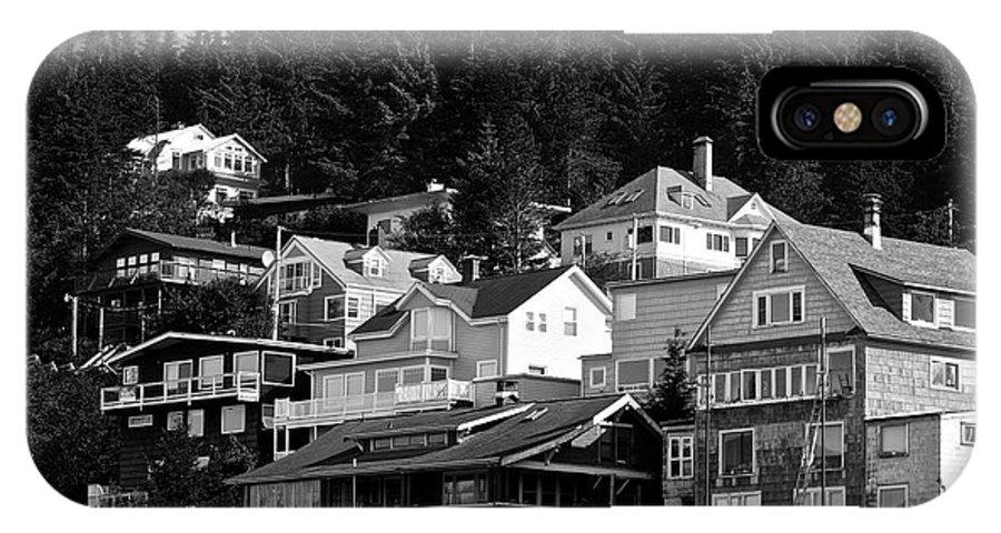 Juneau IPhone X Case featuring the photograph Juneau Homes by Eric Tressler