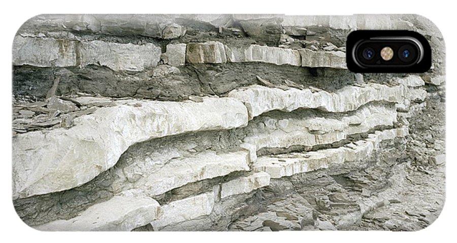 Stratum IPhone X / XS Case featuring the photograph Jurassic Rock Strata by Michael Marten