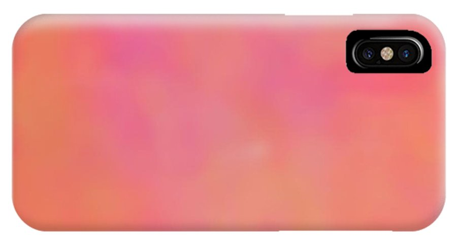 Pink IPhone X Case featuring the digital art Just A Kiss by Christy Leigh