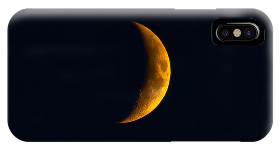 Just A Sliver IPhone X Case featuring the photograph Just A Sliver by Mitch Shindelbower