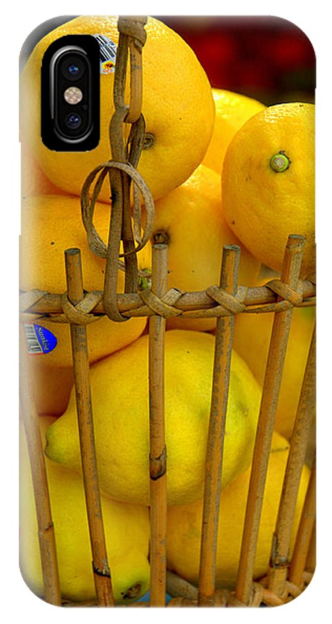 New England IPhone X Case featuring the photograph Just Lemons by Caroline Stella