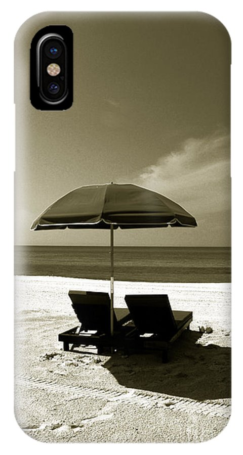 Beach IPhone X Case featuring the photograph Just You And Me by Susanne Van Hulst