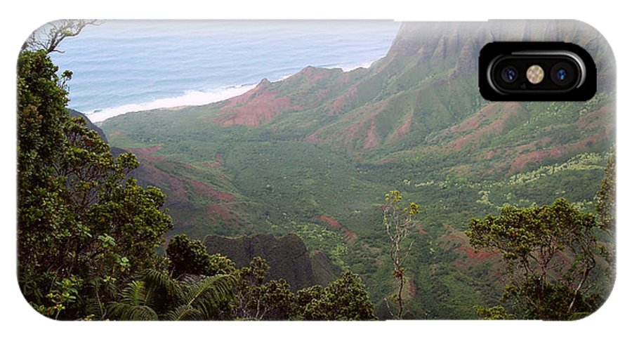 Nature IPhone X Case featuring the photograph Kalalau Valley by Paulette B Wright