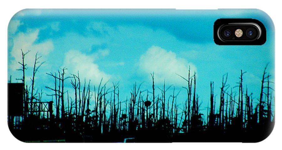 Hurricane IPhone X / XS Case featuring the photograph Katrina Trees by Lizi Beard-Ward