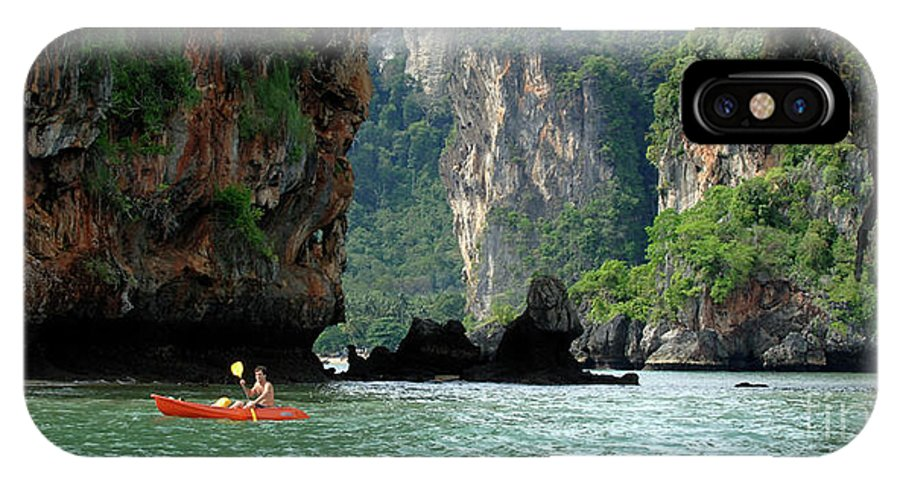 Phuket IPhone X Case featuring the photograph Kayaking In Thailand by Bob Christopher