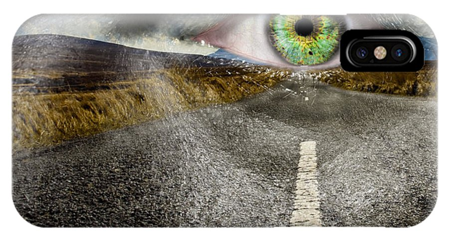Art IPhone X Case featuring the photograph Keep Your Eyes On The Road by Semmick Photo
