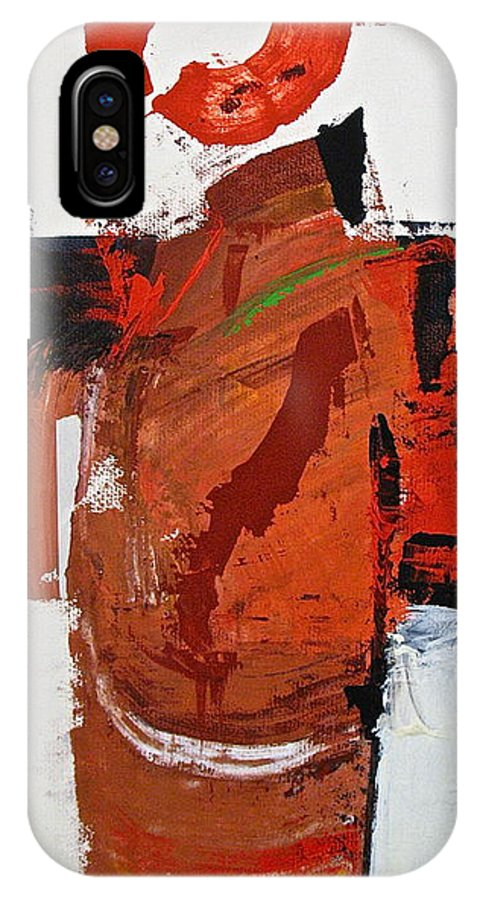 Abstract Painting IPhone X Case featuring the painting Kimono Lisa by Cliff Spohn