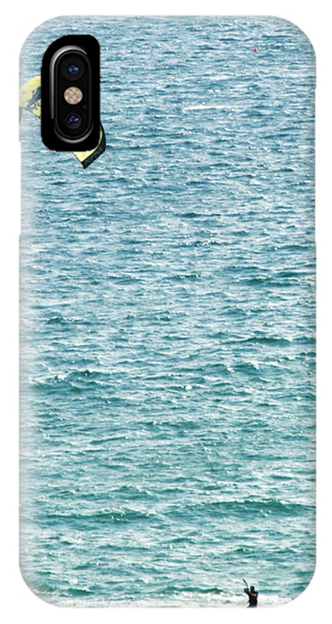 Kite IPhone X Case featuring the photograph Kite Surfer by Chris Day