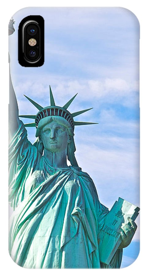Statue Of Liberty New York City IPhone X Case featuring the photograph Lady Liberty by Alice Gipson