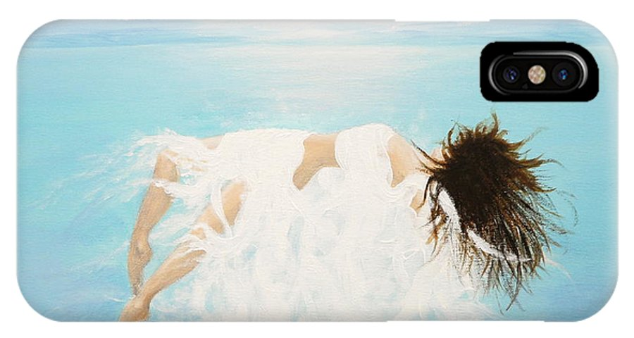 Water IPhone X Case featuring the painting Lady Of The Water by Kume Bryant
