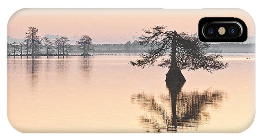 Lake Mattamuskeet IPhone X / XS Case featuring the photograph Lake Mattamuskeeet Sunrise by Bill Swindaman