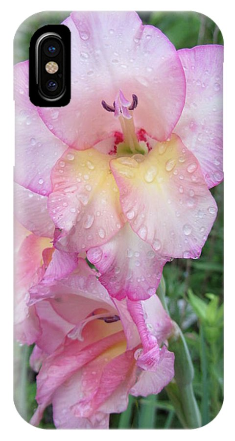Flower IPhone X Case featuring the photograph Lake Shore Flowers Three by Susan Carella