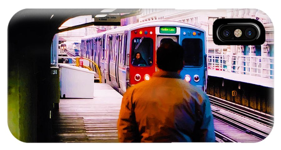 Man IPhone X Case featuring the photograph Lake Street Station by Terry Fiala