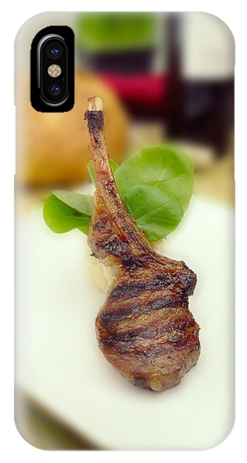 Lamb Chop IPhone X / XS Case featuring the photograph Lamb Chop One by Mike Penney