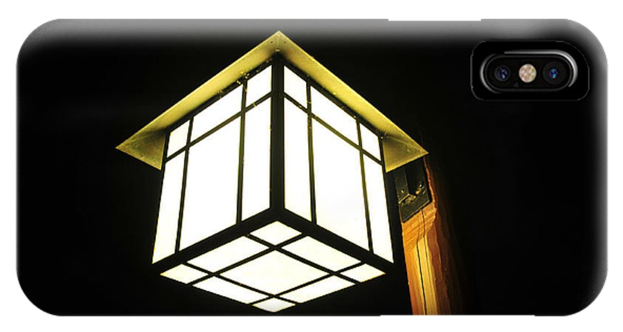 Fine Art Photography IPhone X Case featuring the photograph Lantern In The Night by David Lee Thompson