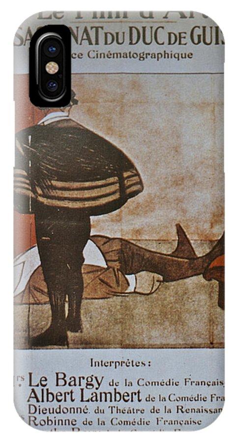 L'assassinat Du Duc De Guise IPhone X Case featuring the digital art L'assassinat Du Duc De Guise by Georgia Fowler