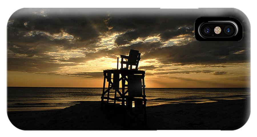 Beach IPhone X / XS Case featuring the photograph Last Day Of Summer by David Lee Thompson