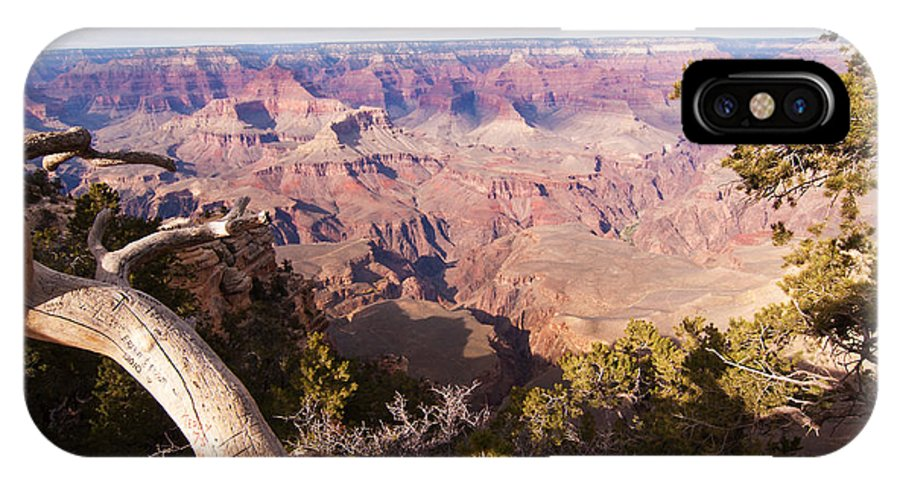 Grand Canyon IPhone X Case featuring the photograph Late Afternoon At The South Rim by Bob and Nancy Kendrick
