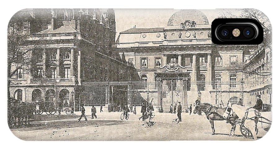 Paris IPhone X Case featuring the digital art Le Palais De Justice by Georgia Fowler